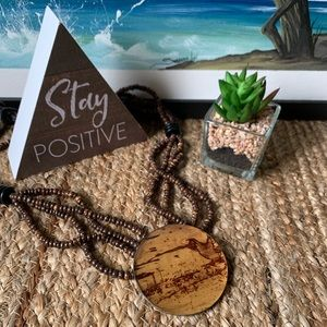 Jewelry - CARIBBEAN Boho Multi Strand Wooden Bead Neclace